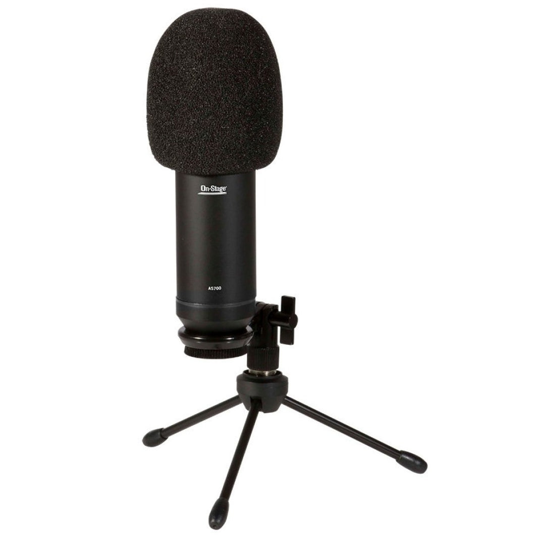 On Stage Stand AS700 USB Studio Condenser Microphone