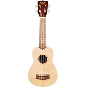 Kala Kala KA-15S-S Soprano Spruce Top and Mahogany Ukulele - Easy Music Center