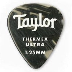 Taylor 80717 Taylor Premium 351 Thermex Ultra Picks, Black Onyx, 1.25mm, 6-Pack