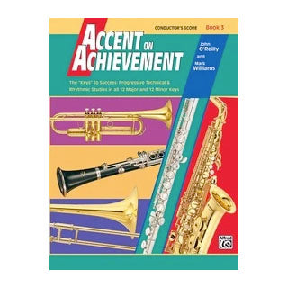 Alfred A-18072 Accent on Achievement Book 3 - Conductor's Score