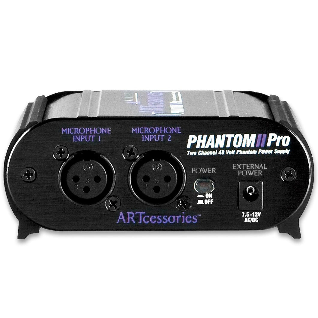 ART PHANTOM2PRO Two Channel +48volt Phantom Power Supply