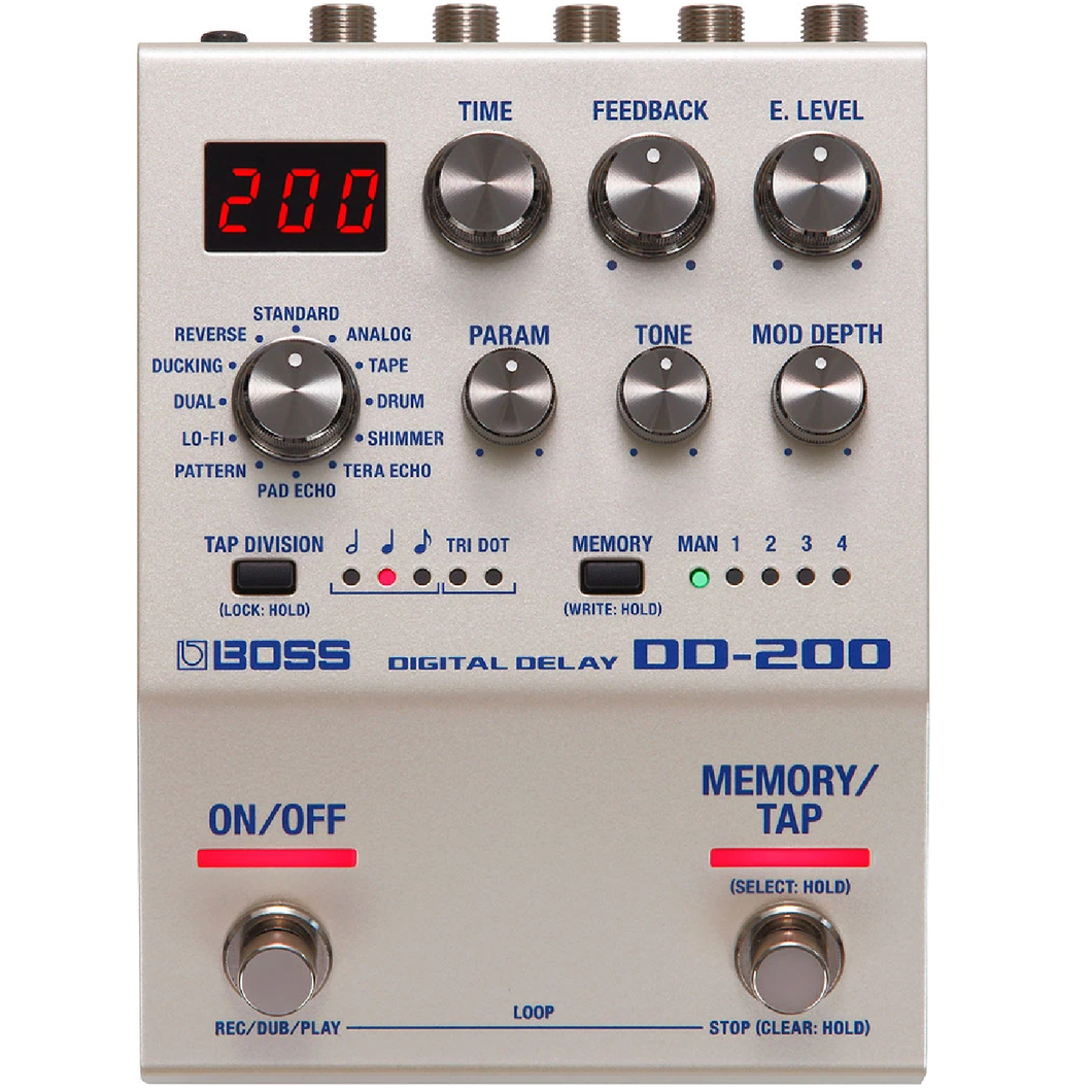 Boss DD-200 Digital Delay Effects Pedal