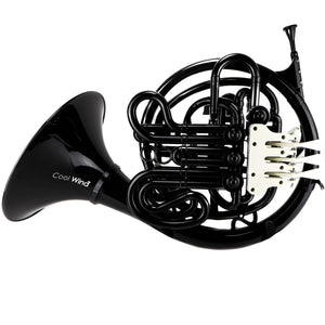 Cool Wind CDFH-200BK Cool Wind ABS Polymer Double French Horn in Black, with soft bag