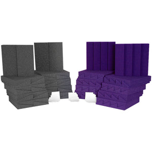 Auralex D36PUR D36-DST Roominator Kit, Purple/Charcoal