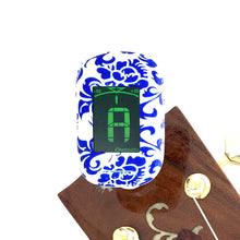 Load image into Gallery viewer, Easy Music Center EMC-T Chromatic Clip-on Tuner, Blue Floral