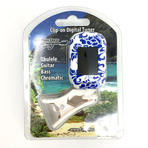 Easy Music Center EMC-T Chromatic Clip-on Tuner, Blue Floral