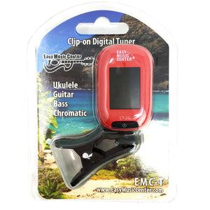 Easy Music Center EMC-T Chromatic Clip-on Tuner, Red