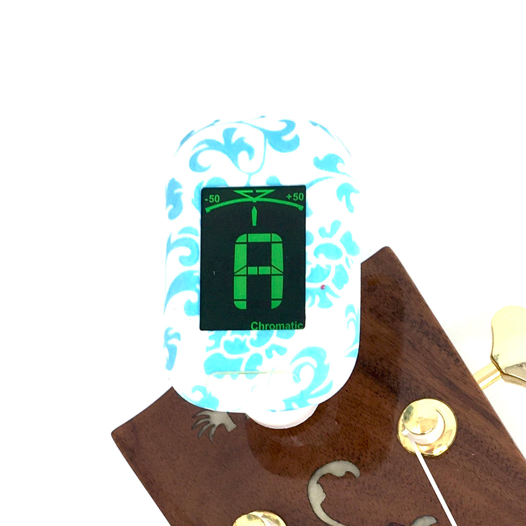 Easy Music Center EMC-T Chromatic Clip-on Tuner, Teal Floral