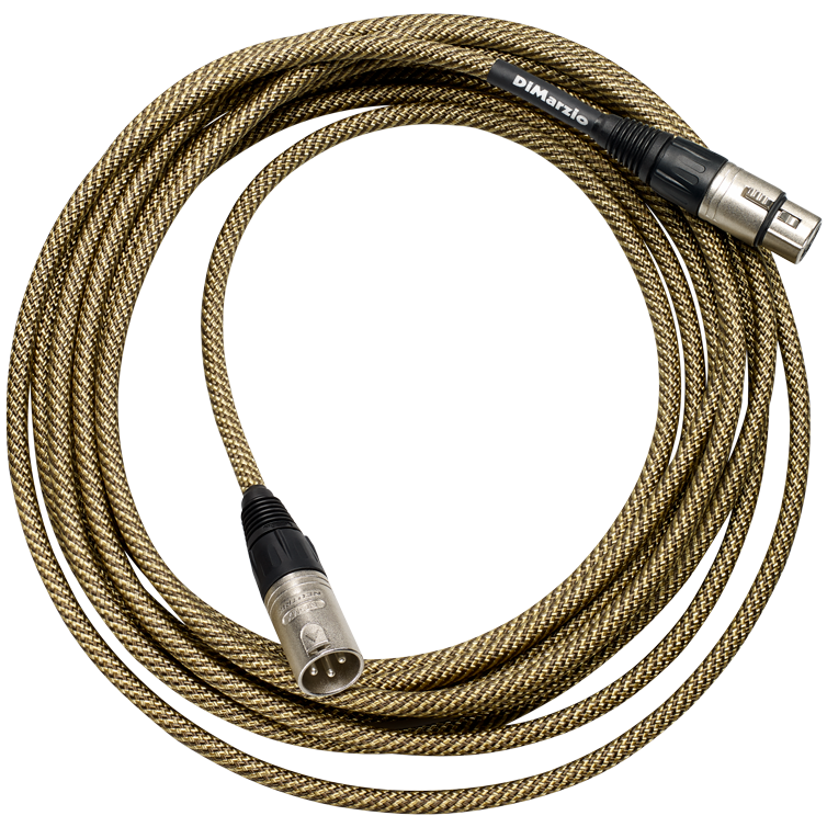 Dimarzio EP2720VT 20ft Mic Cable, Tweed with Neutrick Ends