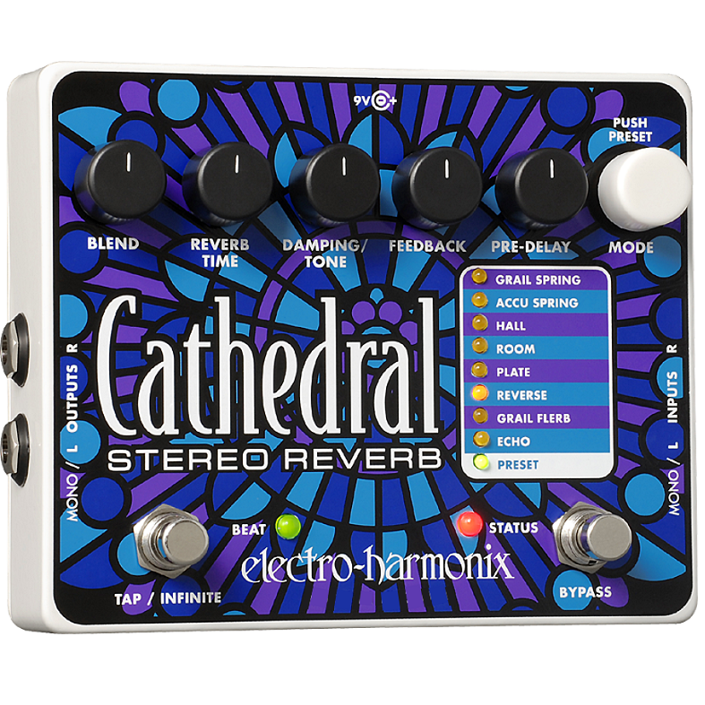 Electro Harmonix CATHEDRAL Deluxe Stereo Reverb