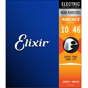 Elixir 12052 NANOWEB Electric Guitar Strings Light 10-46