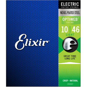 Elixir 19052 Optiweb Electric Guitar Strings Light 10-46