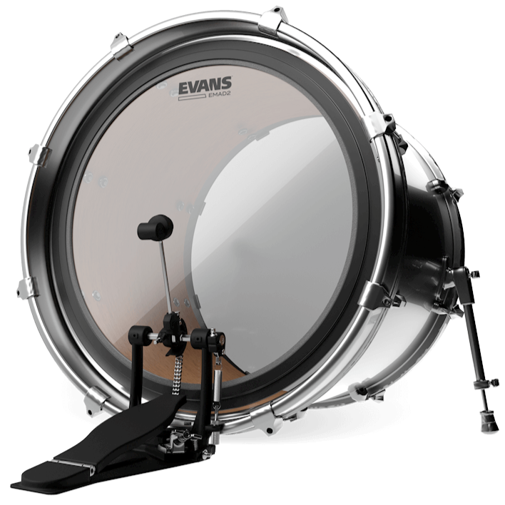 Evans BD24EMAD2 EMAD2 Clear Bass Drum Head, 24 Inch