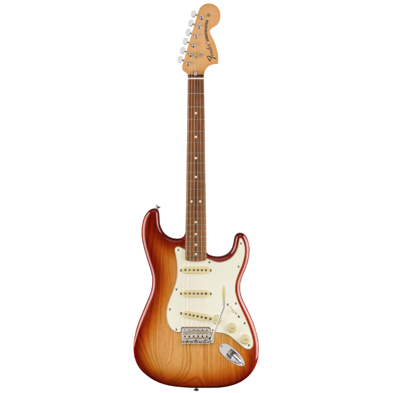 Fender 014-9843-347 Vintera 70s Strat Electric Guitar, Sienna Sunburst