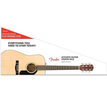 Load image into Gallery viewer, Fender 096-1281-021 CD-60s Dreadnaught Acoustic Guitar Pack