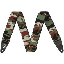 "Load image into Gallery viewer, Fender 099-0685-100 2"" Weighless Strap, Woodland Camo Print"