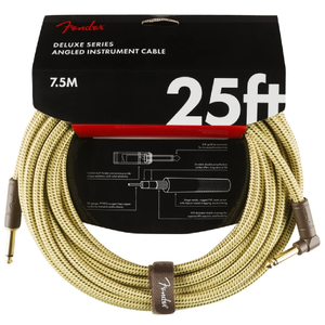 Fender 099-0820-078 Deluxe 25' Angled Instrument Cable - Tweed