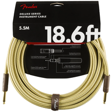 Load image into Gallery viewer, Fender 099-0820-081 Deluxe 18.6' Instrument Cable - Tweed
