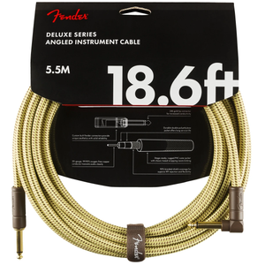 Fender 099-0820-082 Deluxe 18.6' Angled Instrument Cable - Tweed