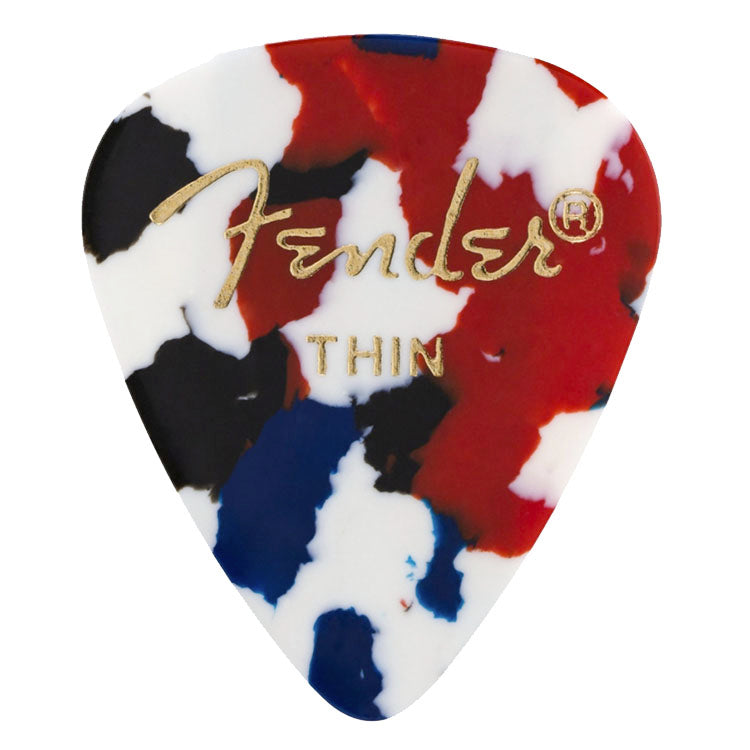 Fender 351 Shape Classic Celluloid Picks Thin - Confetti, 6-pack