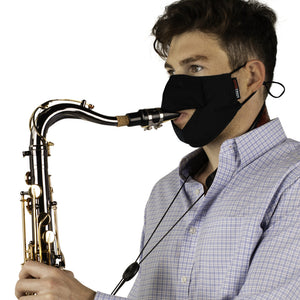 Gator GBOM-LARGEBK Dual-Layer Wind Instrument Face Mask, Large