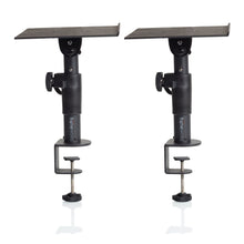 Load image into Gallery viewer, Gator GFWSPKSTMNDSKCM Desk-Clamp Studio Monitor Stand - Adjustable Height