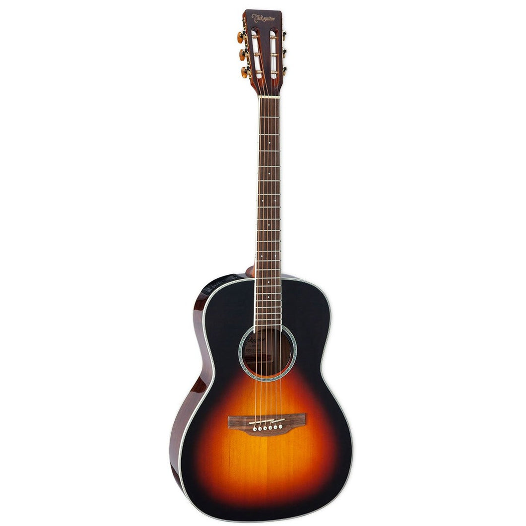 Takamine GY51E-BSB New Yorker Acoustic-Electric Guitar, Solid Spruce Top, Black Walnut b/s, Brown Sunburst