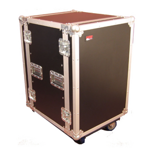 "Gator G-TOUR-14U-CAST ATA Wood Flight Rack Case,  14U, 17"" Deep, with Casters"