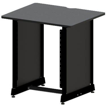 Gator GFW-DESK-RK Content Furniture Studio Desk 12U Rack, Black