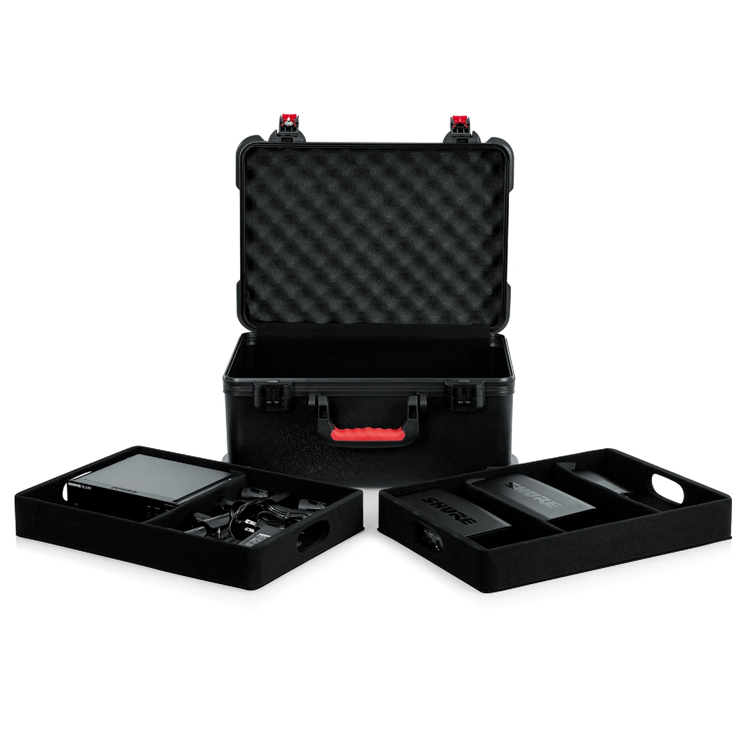 Gator GTSA-MICW7 7 Wireless Microphone Case with Lift Out Trays