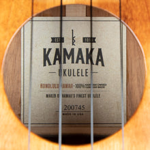Load image into Gallery viewer, Kamaka HF3 2020 Koa Tenor Ukulele (#200745)