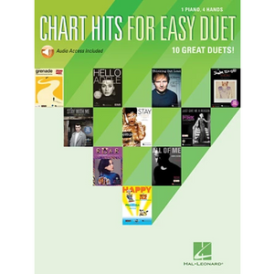 Hal Leonard HL00159796 Chart Hits for Easy Duet, Piano Duet