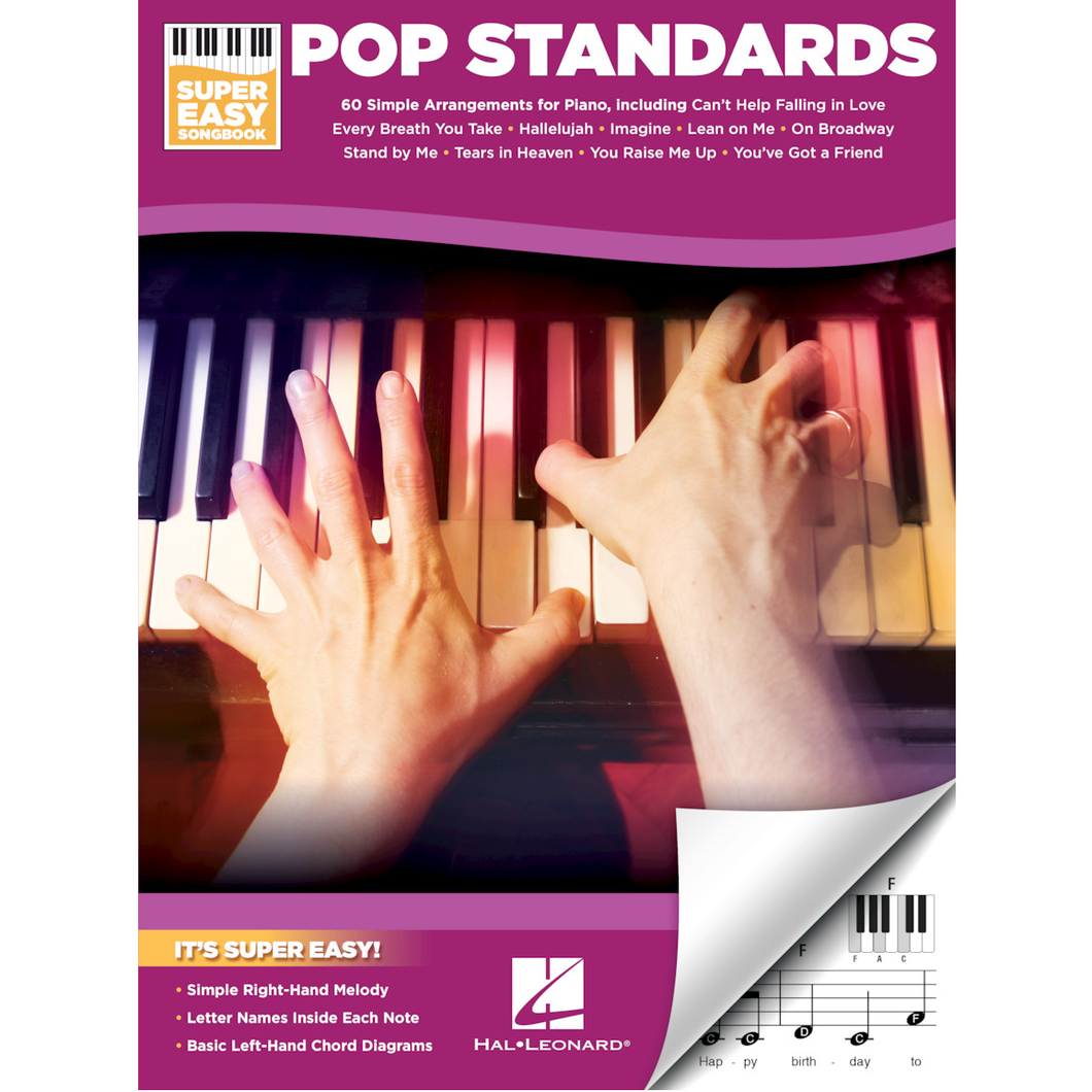 Hal Leonard HL00233770 Pop Standards – Super Easy Songbook Piano/Keyboard