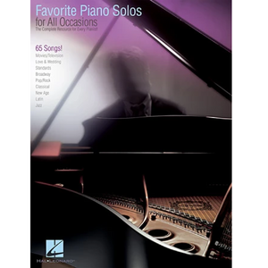 Hal Leonard HL00311904 Favorite Piano Solos for All Occasions, Piano Solo Songbook