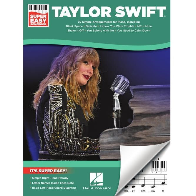 Hal Leonard HL00323195 Taylor Swift – Super Easy Songbook