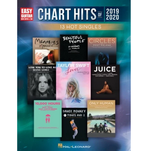 Hal Leonard HL00334293 Chart Hits of 2019-2020 for Easy Guitar, Easy Guitar