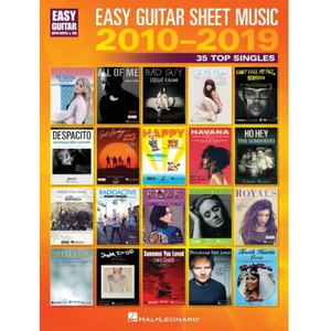 Hal Leonard HL00344969 Easy Guitar Sheet Music 2010-2019, Easy Guitar