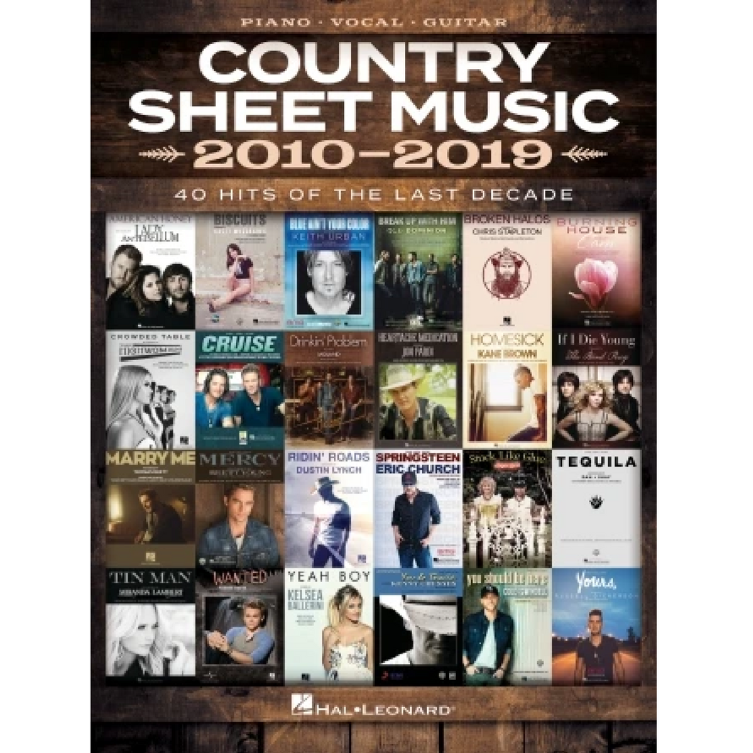 Hal Leonard HL00345260 Country Sheet Music 2010-2019, Piano/Vocal/Guitar Songbook