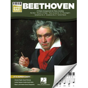 Hal Leonard HL00345533 Beethoven - Super Easy Songbook, Super Easy Songbook
