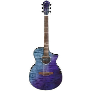 Ibanez AEWC32FMPSF AEWC Acoustic-Electric Guitar, Purple Sunset Fade Gloss