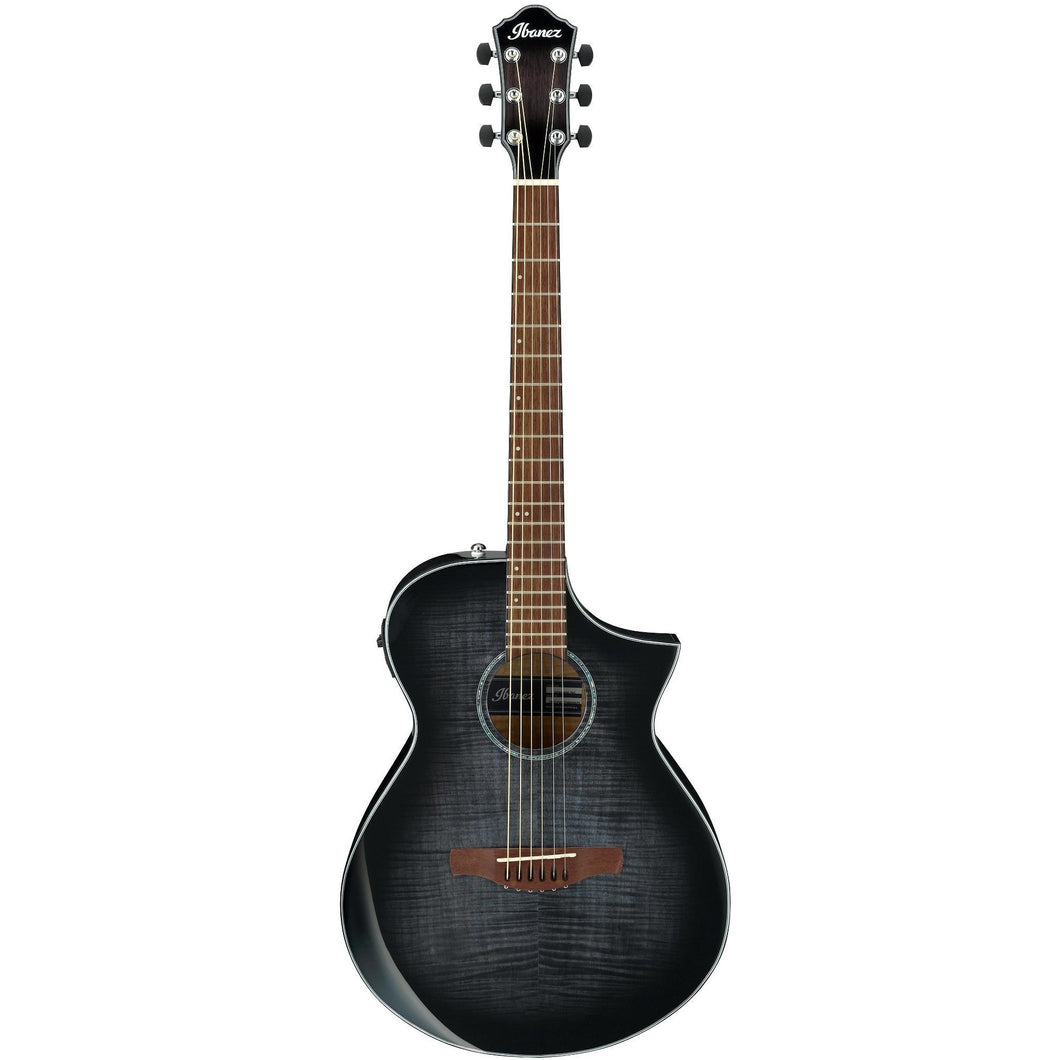 Ibanez AEWC400TKS AEWC Acoustic-Electric Guitar, Transparent Black Sunburst