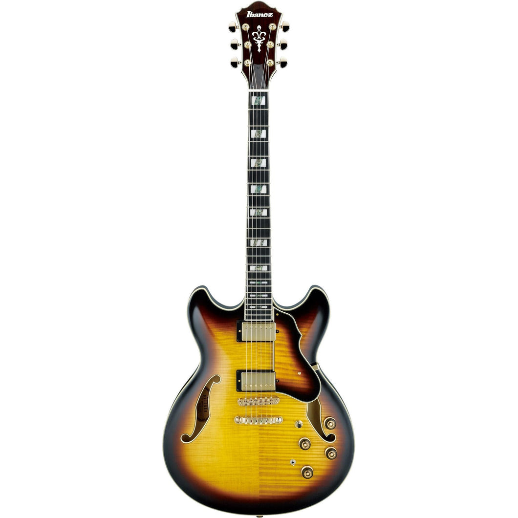 Ibanez AS153AYS Artstar Semi-Hollow Electric Guitar, Antique Yellow Sunburst