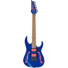 Load image into Gallery viewer, Ibanez PGMM11JB Paul Gilbert Siganture Mikro Guitar, Jewel Blue x Pink