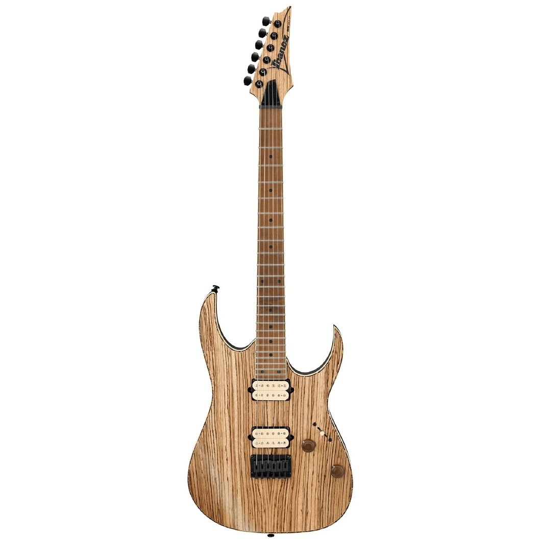 Ibanez RGEW521MZWNTF RG Exotic Wood Zebrawood Nat, Roasted MN
