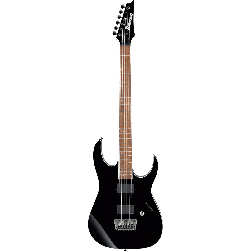 Ibanez RGIB21BK RG Iron Label HH Hardtail Baritone Electric Guitar, Black