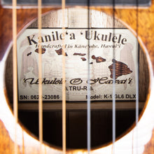 Load image into Gallery viewer, Kanile'a K1-GL6-DLX-G Tenor Deluxe Koa Guitarlele (#0620-23086)