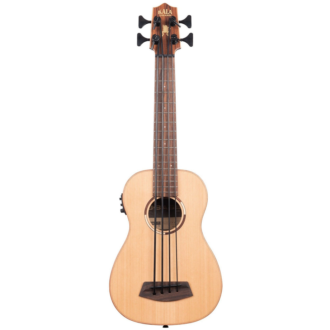 Kala UBASS-SCP-FS U-Bass Acoustic-Electric Solid Cedar Fretted Bass