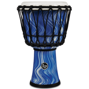 "Lp LP1607BM 7"" Rope Circle Djembe Blue Marble"