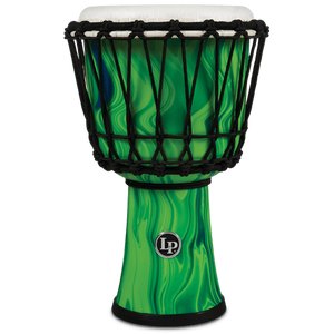 "Lp LP1607GM 7"" Rope Circle Djembe Green Marble"