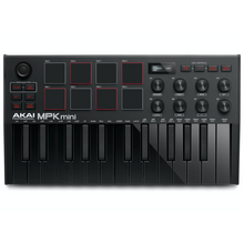 Load image into Gallery viewer, Akai MPKMINI3B Ultra Compact 25-Key Mini Keyboard Controller and Pads, Black